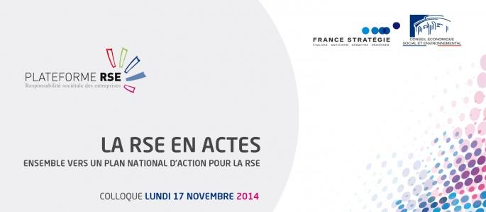La RSE en actes - Vers un plan national d'action pour la RSE