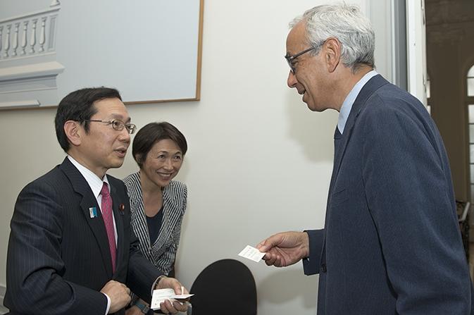 Rencontre avec le secrétaire parlementaire des finances au Japon