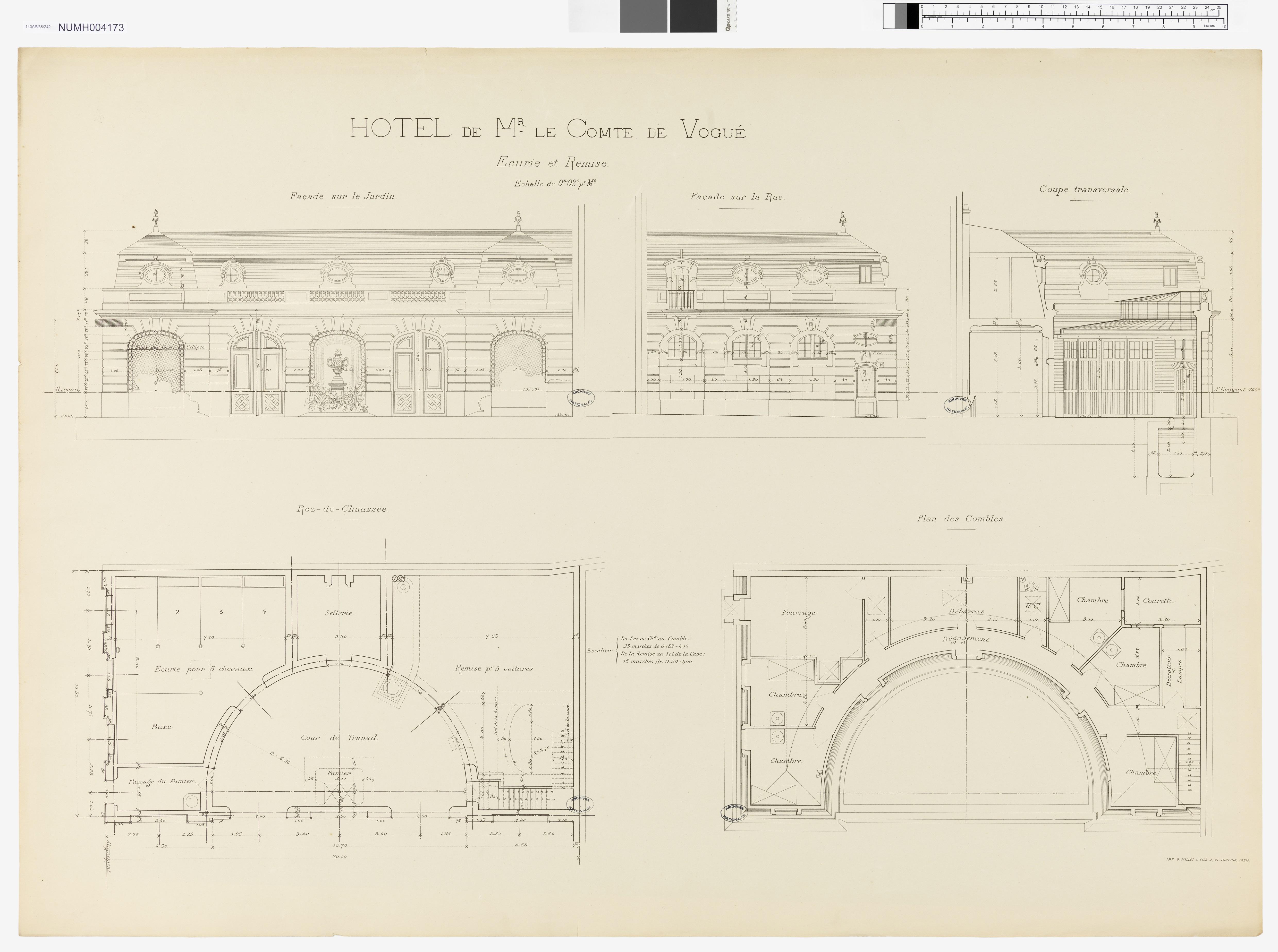 Hôtel de Vogüé : écuries, 2013.Document conservé au Commissariat général à la stratégie et à la prospective