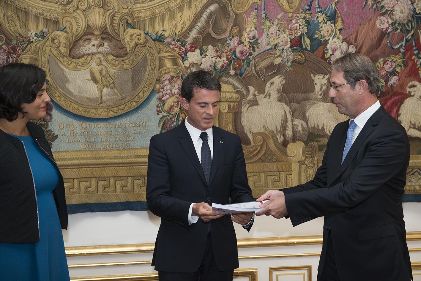 Remise du rapport de Jean-Denis Combrexelle - 9 sept 2015