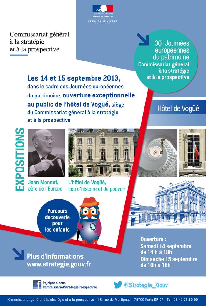Affiches Journées européennes du patrimoine – Commissariat général à la stratégie et à la prospective