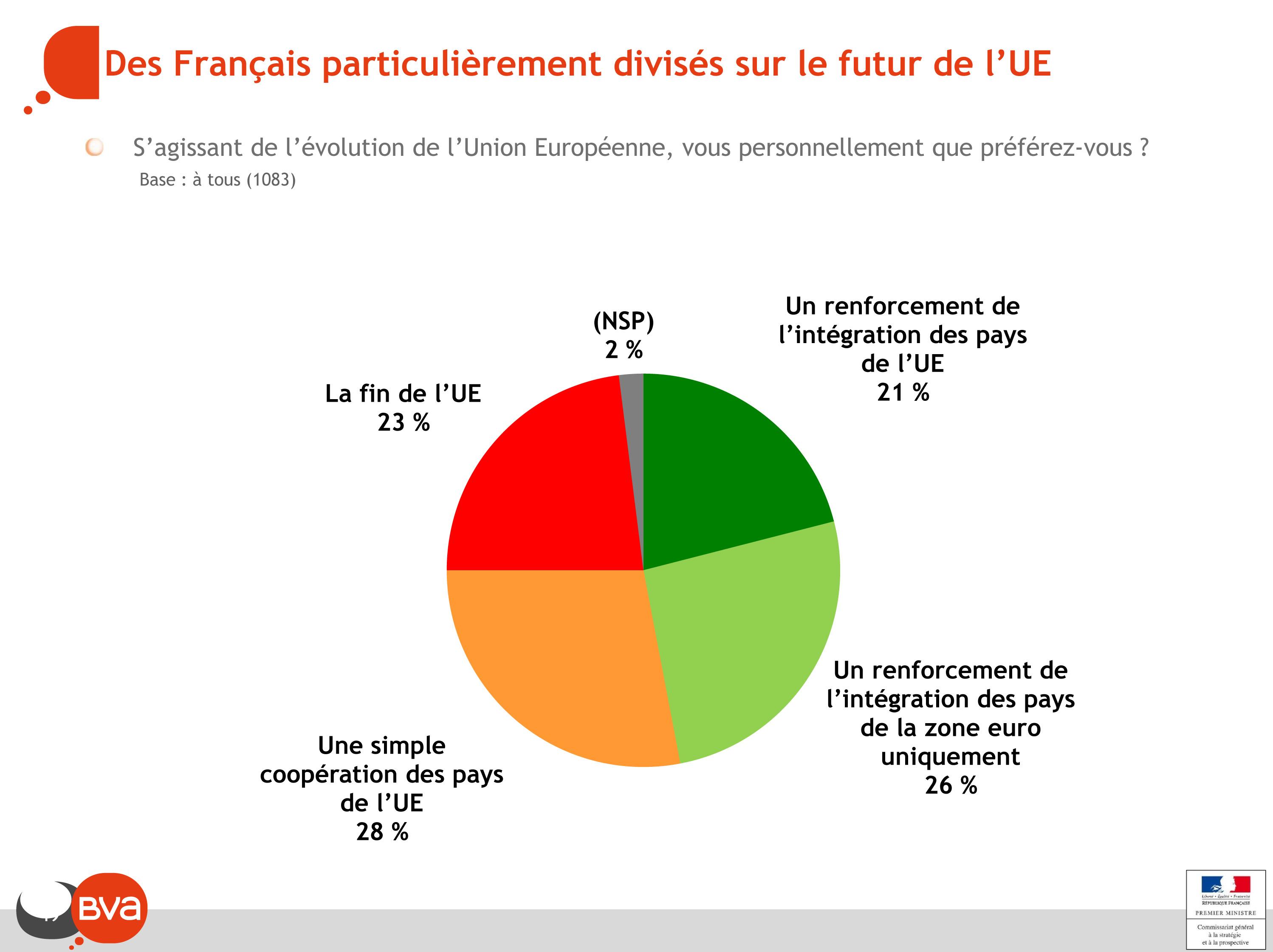 Des Français particulièrement divisés sur le futur de l'UE