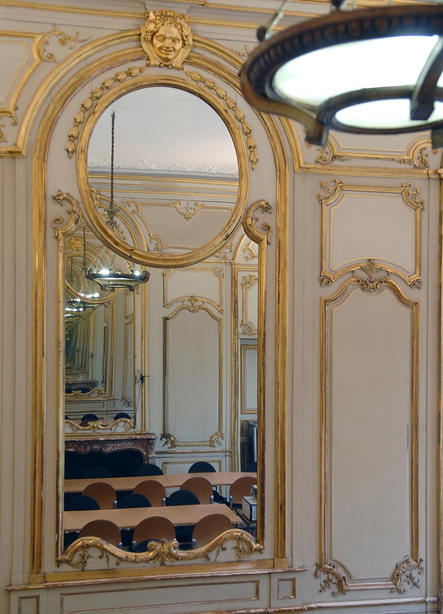 Boiseries de la salle Guillaumat (« Grand salon »), 2013. Documents conservés au CGSP